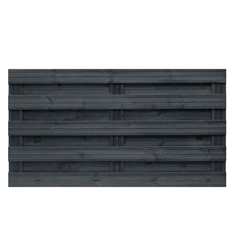 sichtschutzzaun element goch anthrazit 90 cm x 180 cm kaufen bei obi. Black Bedroom Furniture Sets. Home Design Ideas
