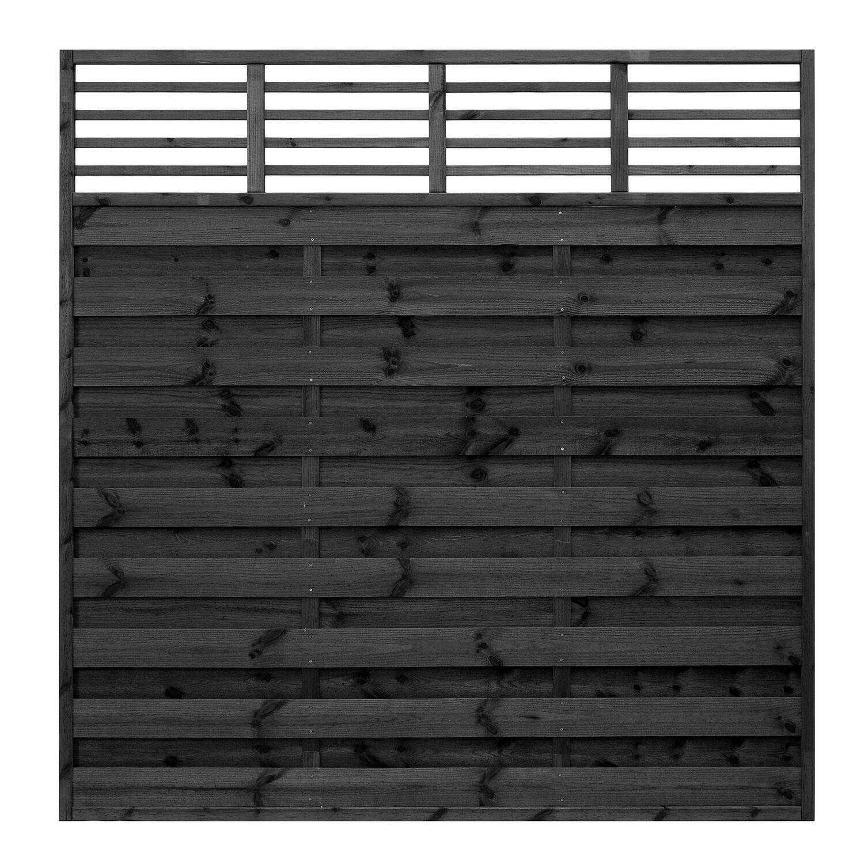sichtschutzzaun element bern grau getaucht 180 cm x 180 cm. Black Bedroom Furniture Sets. Home Design Ideas
