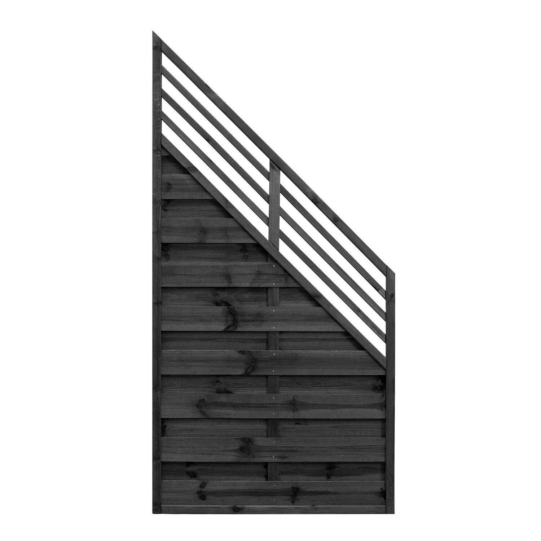 Sichtschutzzaun Anschlusslement Bern Grau aucht 180 x 90 cm auf