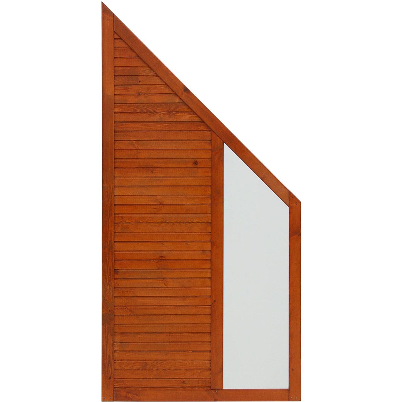 Andrewex Sichtschutzzaun Anschlusselement Boston Teakfarben 180 x 90 cm auf 90 cm