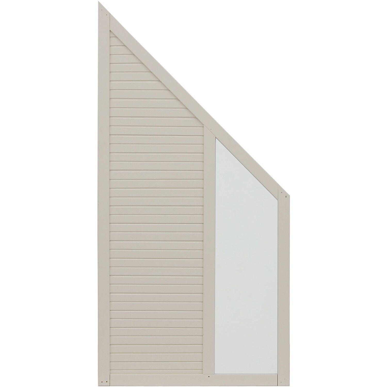 Andrewex Sichtschutzzaun Anschlusselement Boston Cream 180 x 90 cm auf 90 cm