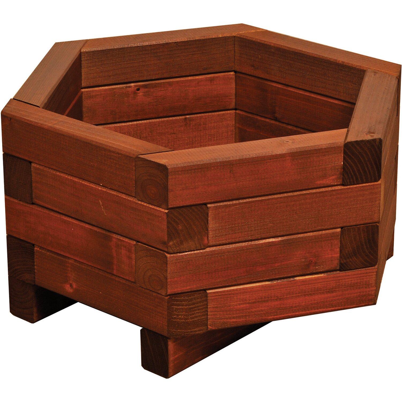 pflanzkasten hexagonal kdi braun 30 x 60 x 52 cm kaufen bei obi