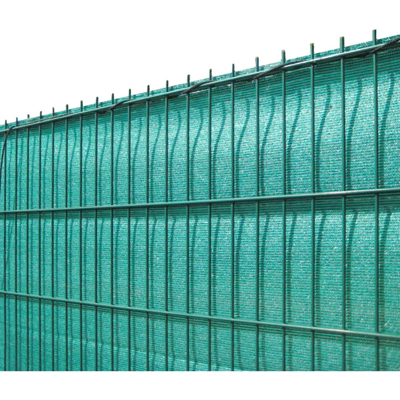 Solid Sichtschutzblende Grün Grobe Struktur aus HDPE 180 cm x 500