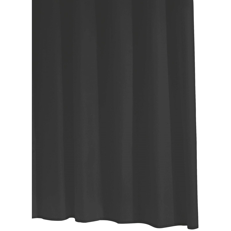 ridder duschvorhang folie standard schwarz 200 cm x 180 cm inkl ringe kaufen bei obi. Black Bedroom Furniture Sets. Home Design Ideas