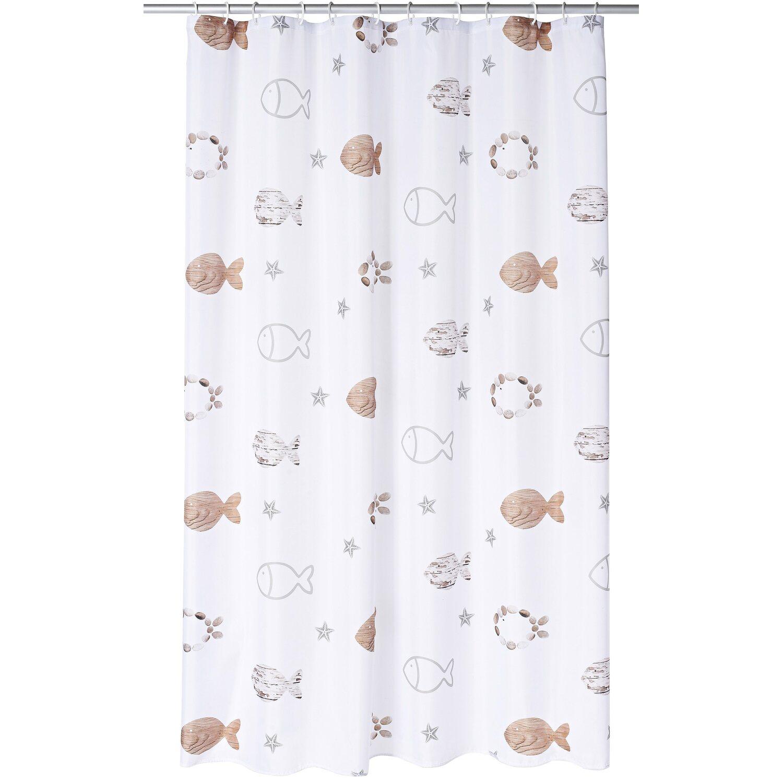 ridder duschvorhang textil fishes 200 cm x 180 cm inkl ringe kaufen bei obi. Black Bedroom Furniture Sets. Home Design Ideas