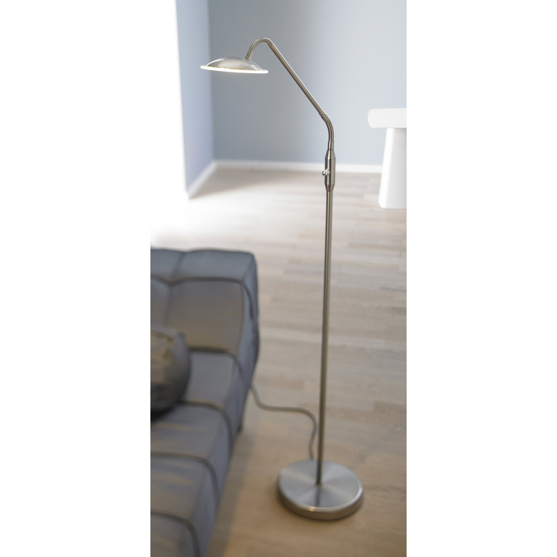 Wofi LED-Stehleuchte Twin Nickel Matt EEK: A+ kaufen bei OBI