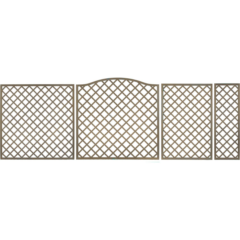 Sichtschutzzaun Element Pergola Grau 180 cm x 90 cm kaufen bei OBI