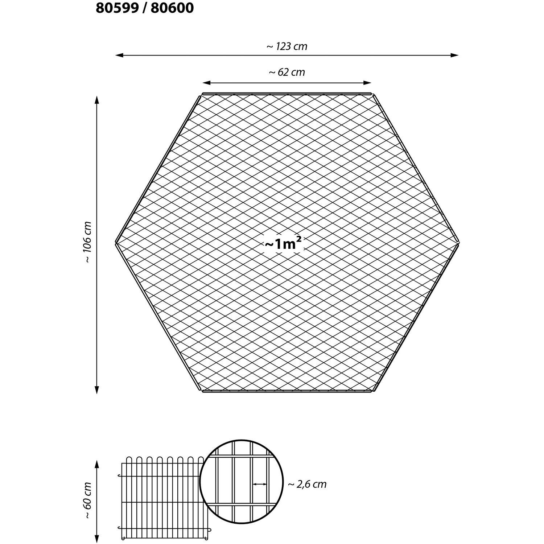 dobar 6 eck freilaufgehege pulverbeschichtetem metall. Black Bedroom Furniture Sets. Home Design Ideas
