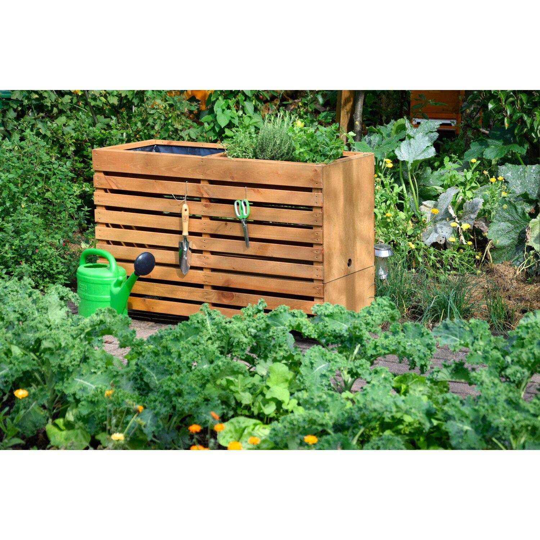 Dobar Doppel Hochbeet Rolling Garden Xxl 75 Cm X 45 Cm X 115 Cm