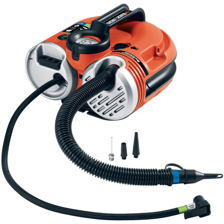 black decker akku luftpumpe asi500 mit 12v und 230v. Black Bedroom Furniture Sets. Home Design Ideas