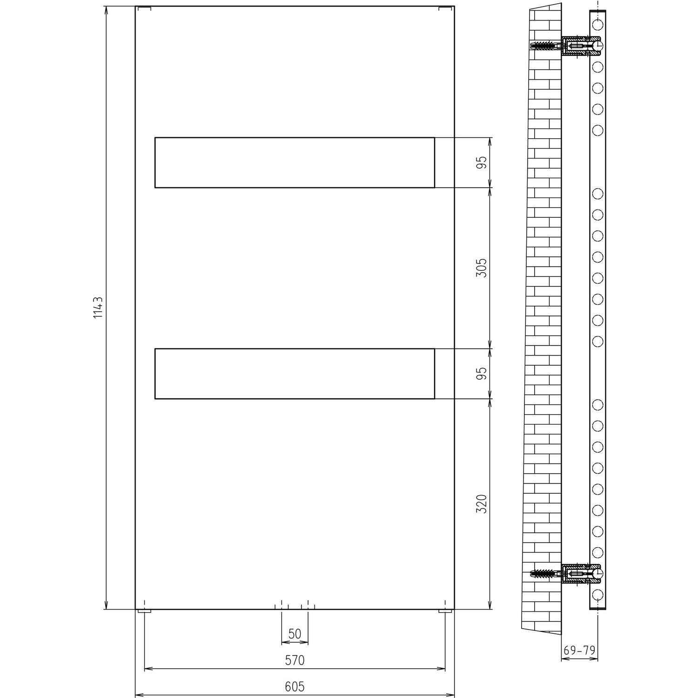 schulte design-heizkörper turin 438 w alpinweiß kaufen bei obi