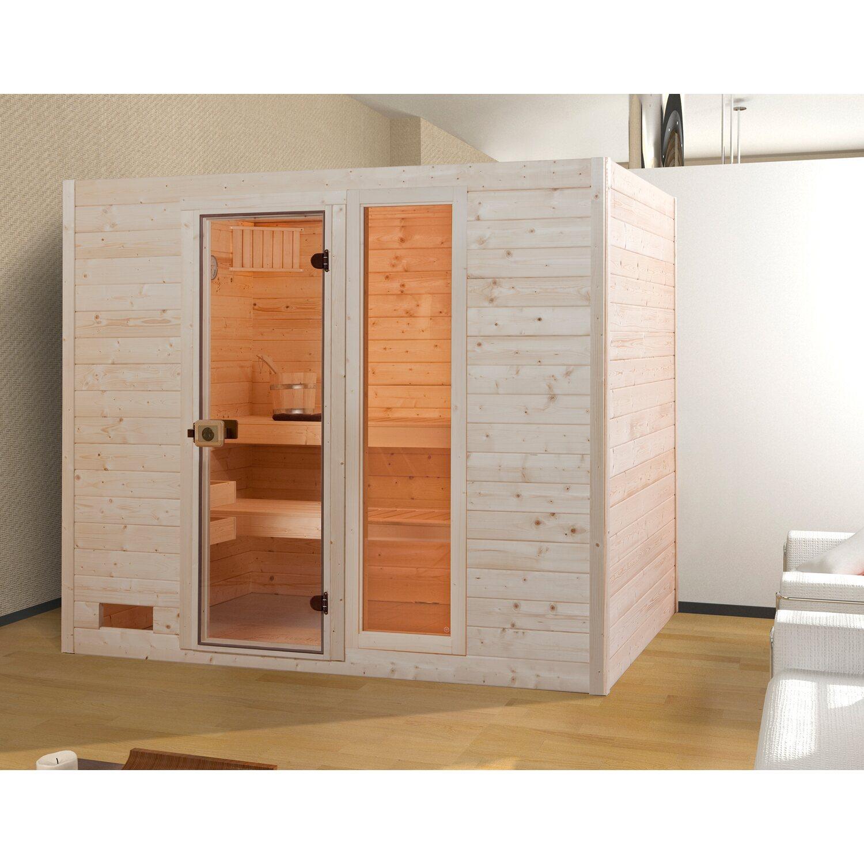 weka massivholz sauna 538 gr 4 mit glast r und fensterelement ohne ofen kaufen bei obi. Black Bedroom Furniture Sets. Home Design Ideas