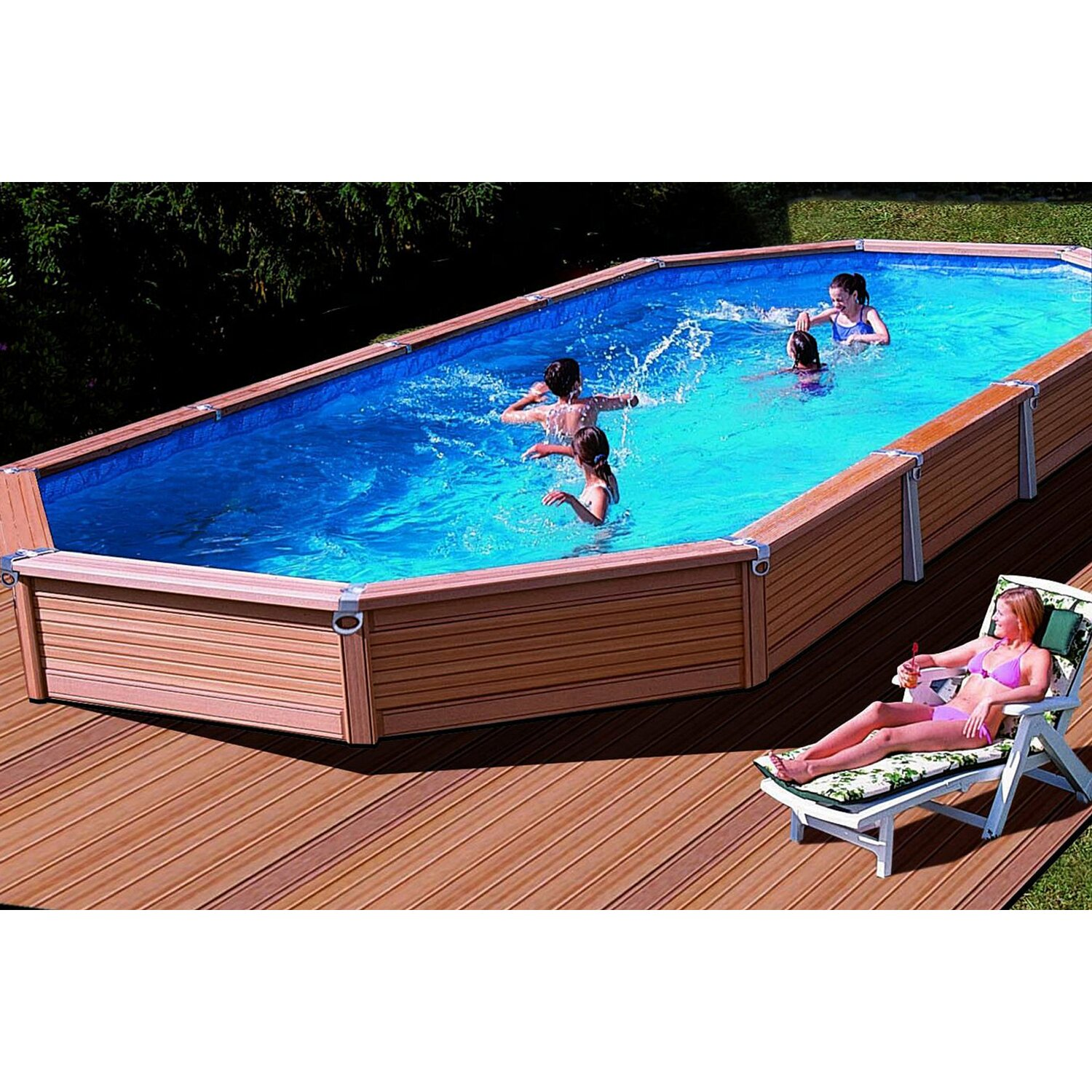 summer fun pool set azteck aufstellbecken ovalform 560 cm x 400 cm x 140 cm kaufen bei obi. Black Bedroom Furniture Sets. Home Design Ideas