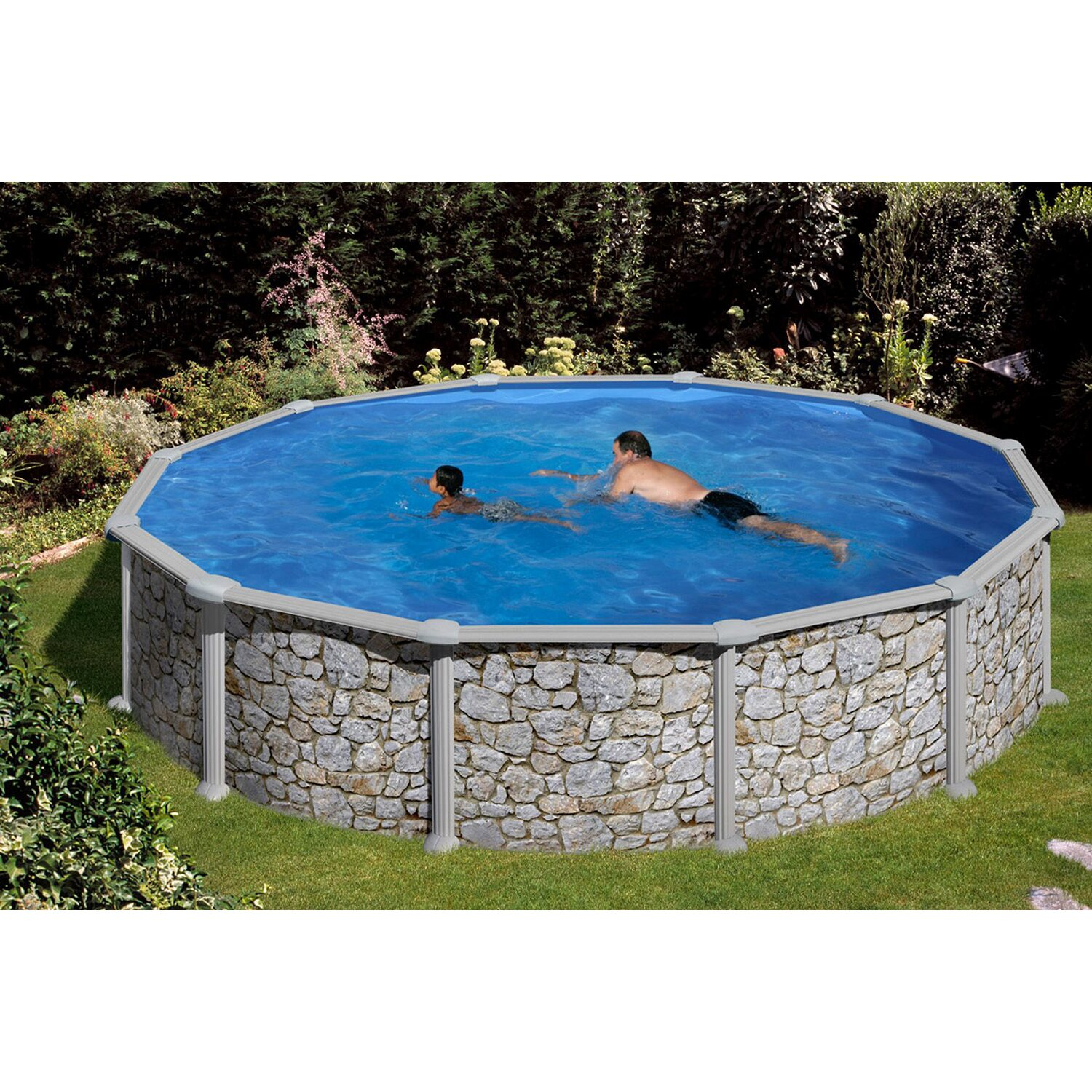 Summer fun stahlwand pool set verona 350 cm x 120 cm for Pool obi baumarkt