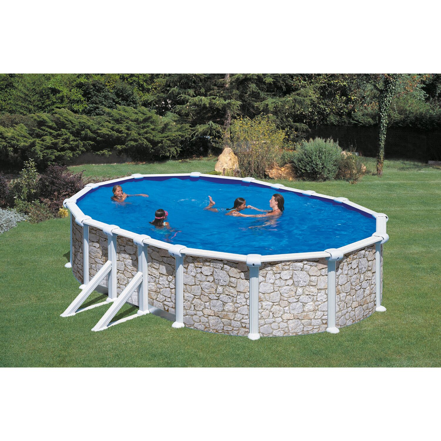 Summer fun stahlwand pool set valencia 500 cm x 300 cm x for Pool mit stahlwand