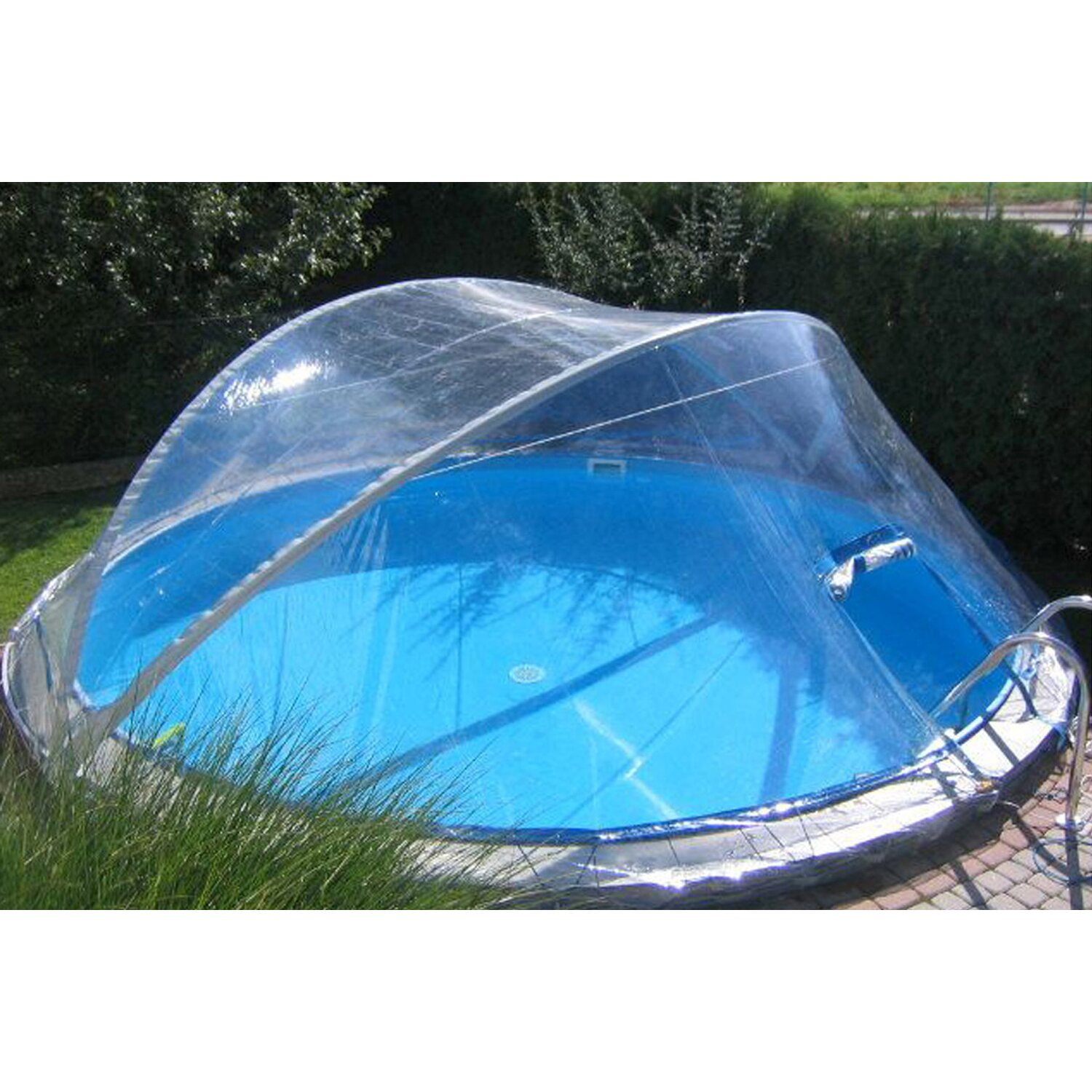 Summer fun pool berdachung cabrio dome f r pools 350 cm for Pool obi baumarkt