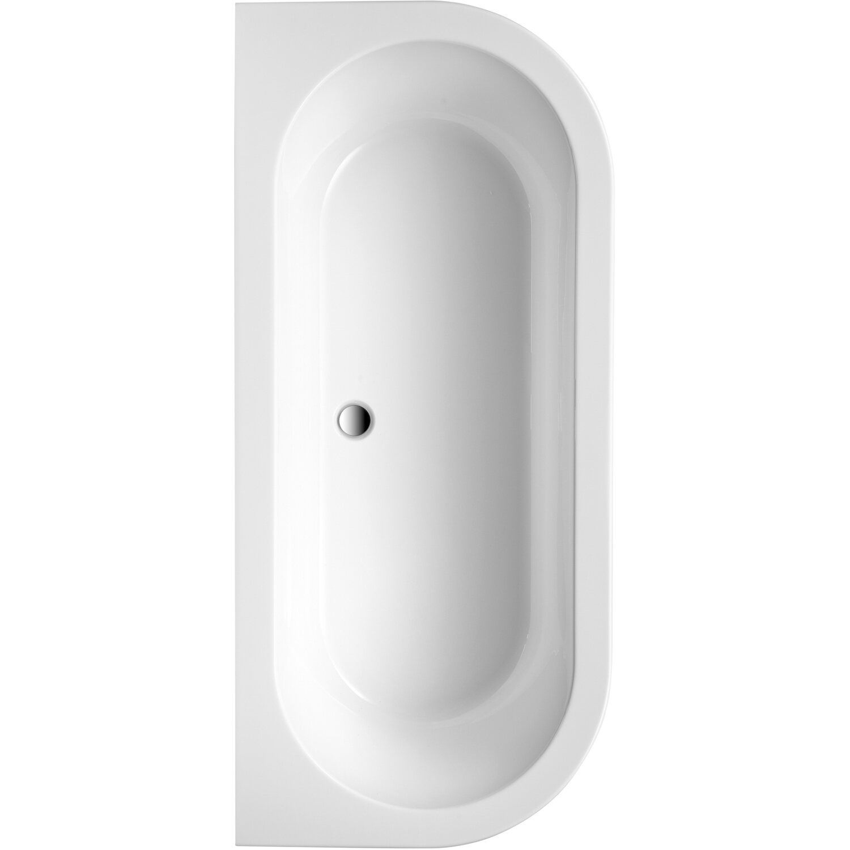 Freistehende Badewanne Modena 180,5 cm x 79,5 cm Weiß