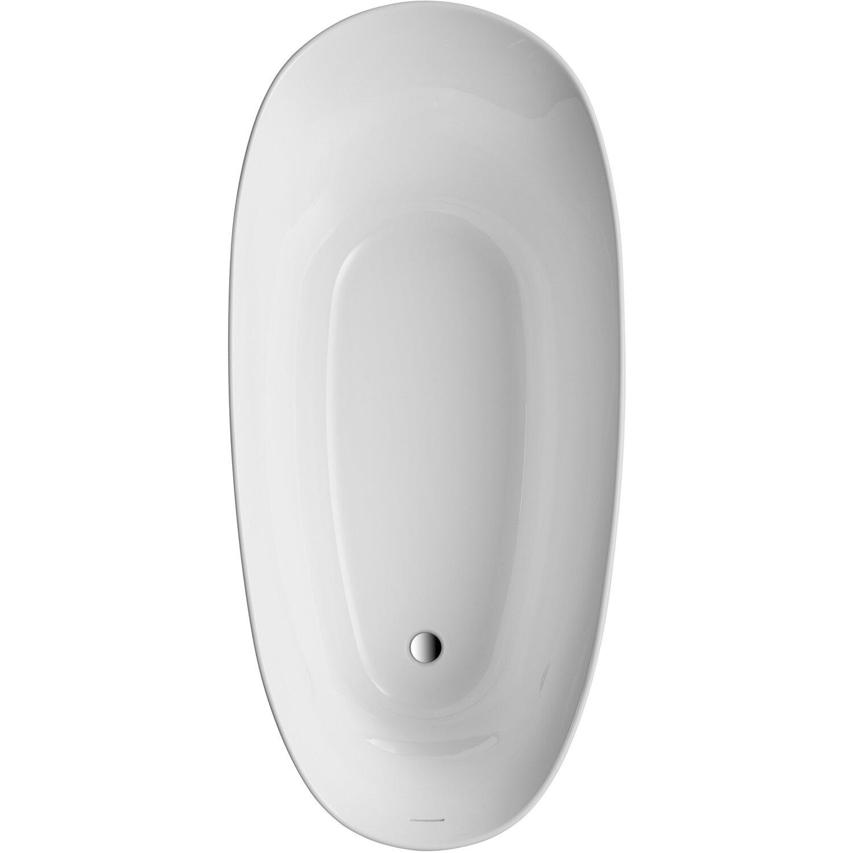 Freistehende Badewanne Aviva 180 Cm X 85 Cm Weiß