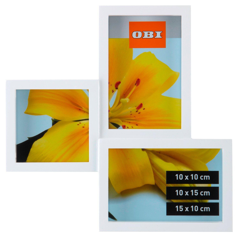 obi multi bilderrahmen f r 3 bilder wei kaufen bei obi. Black Bedroom Furniture Sets. Home Design Ideas