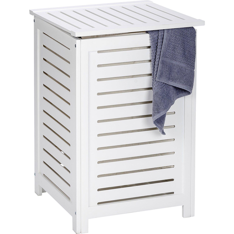 wenko w schetruhe oslo echtholz wei 65 cm x 45 cm x 45 cm kaufen bei obi. Black Bedroom Furniture Sets. Home Design Ideas