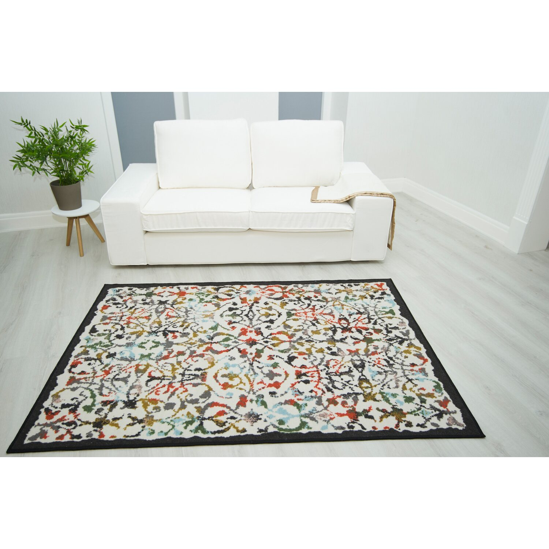 teppich essence creme multicolor 133 cm x 190 cm kaufen bei obi. Black Bedroom Furniture Sets. Home Design Ideas