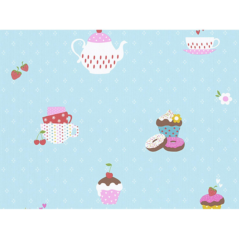 AS Creation A.S. Creation Papiertapete Boys & Girls 5 Cupcakes Blau