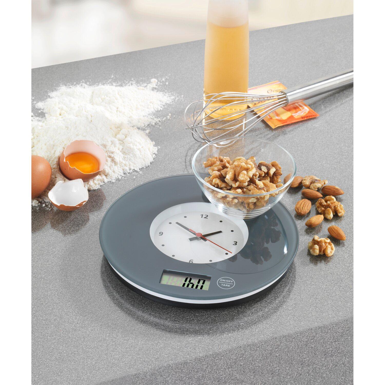 Wenko Kuchenwaage Time Mit Uhr Grau 2 5 Cm X 19 Cm X 19 Cm Kaufen