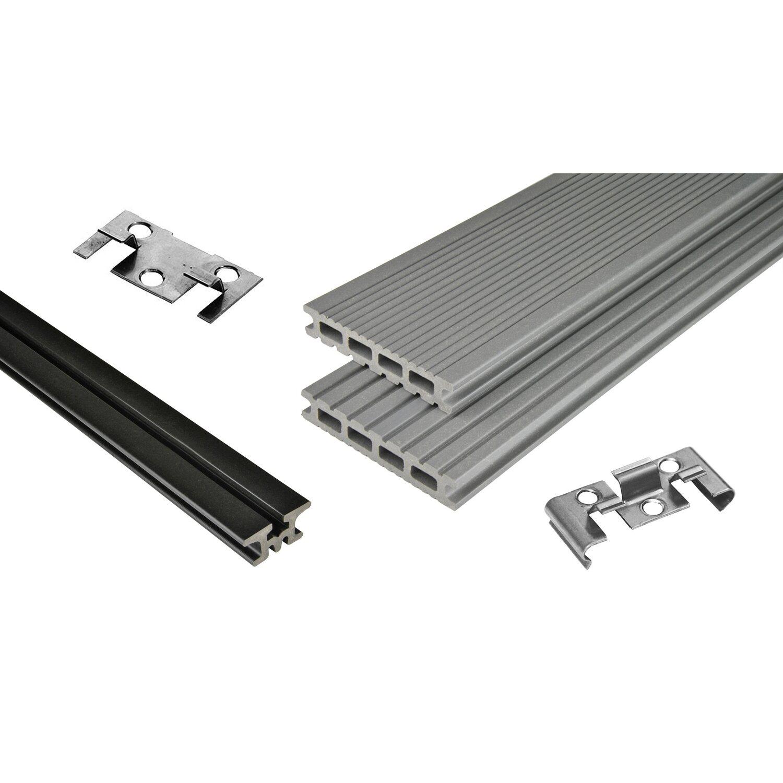 Kovalex  WPC Terrassen-Bausatz Exklusiv mattiert Grau 300 cm x 400 cm
