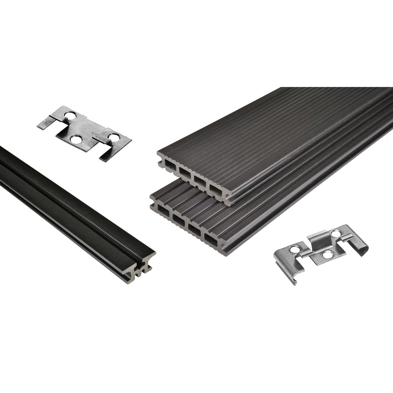 Kovalex  WPC Terrassen-Bausatz Exklusiv mattiert Graubraun 300 cm x 400 cm