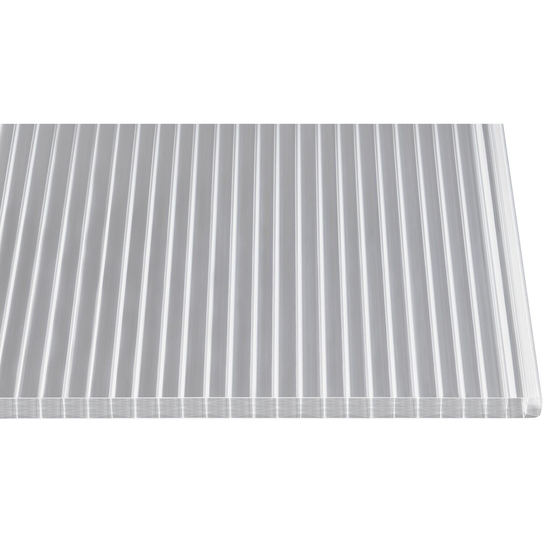 3000 x 980 x 25 mm Polycarbonat Stegplatten Hohlkammerplatten klar 25 mm