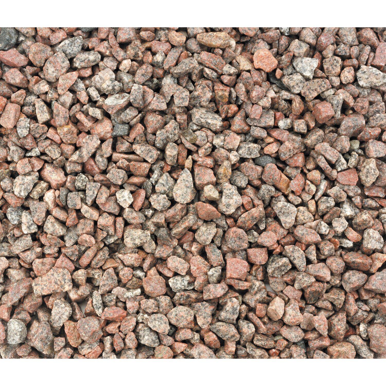Sonstige Granit-Splitt Rot 5 mm - 8 mm 15 kg/ Sack