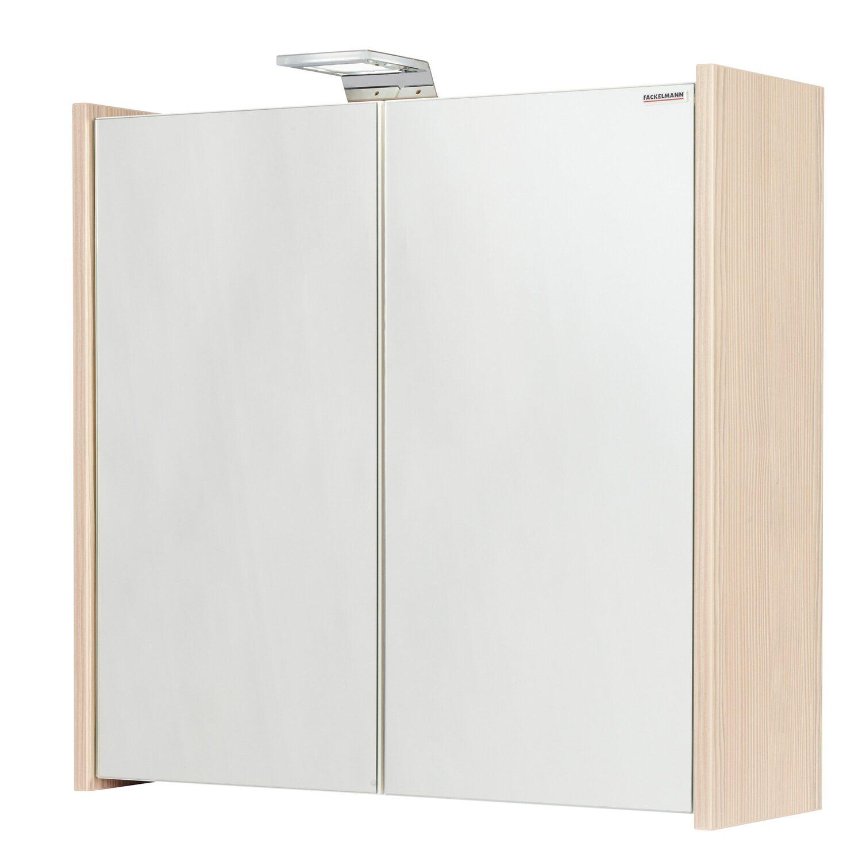 Fackelmann spiegelschrank kayo 63 5 cm pinie eek a a for Spiegelschrank obi