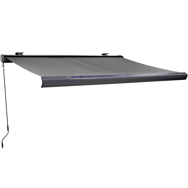 obi solarbetriebene vollkassettenmarkise 300 cm x 200 cm. Black Bedroom Furniture Sets. Home Design Ideas