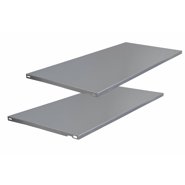 Obi Stahlfachboden Silber Aluminium 800 Mm X 350 Mm X 20