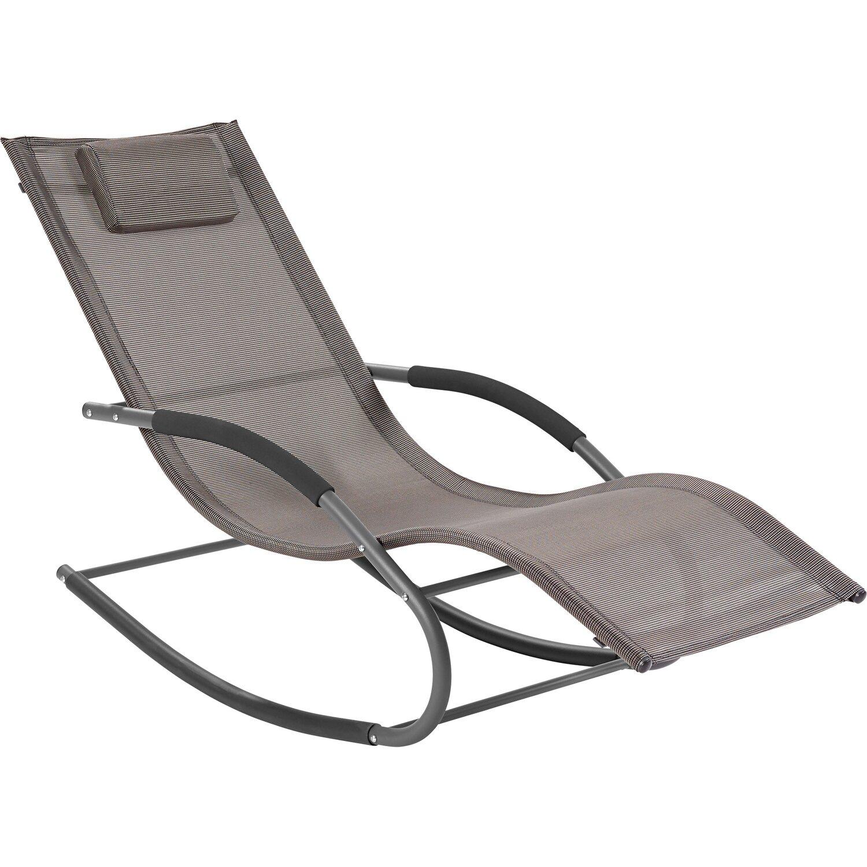 Obi schaukel sonnenliege sanibel textil grau kaufen bei obi - Schaukel liegestuhl ...