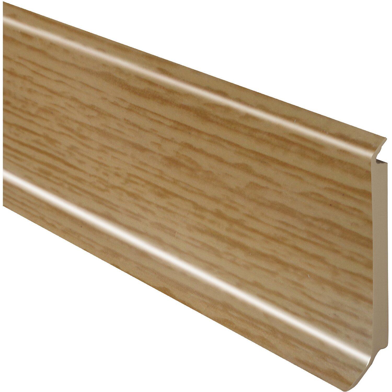 sockelleiste hartschaumkern eiche hell 60 mm x 14 4 mm x 2500 mm kaufen bei obi. Black Bedroom Furniture Sets. Home Design Ideas