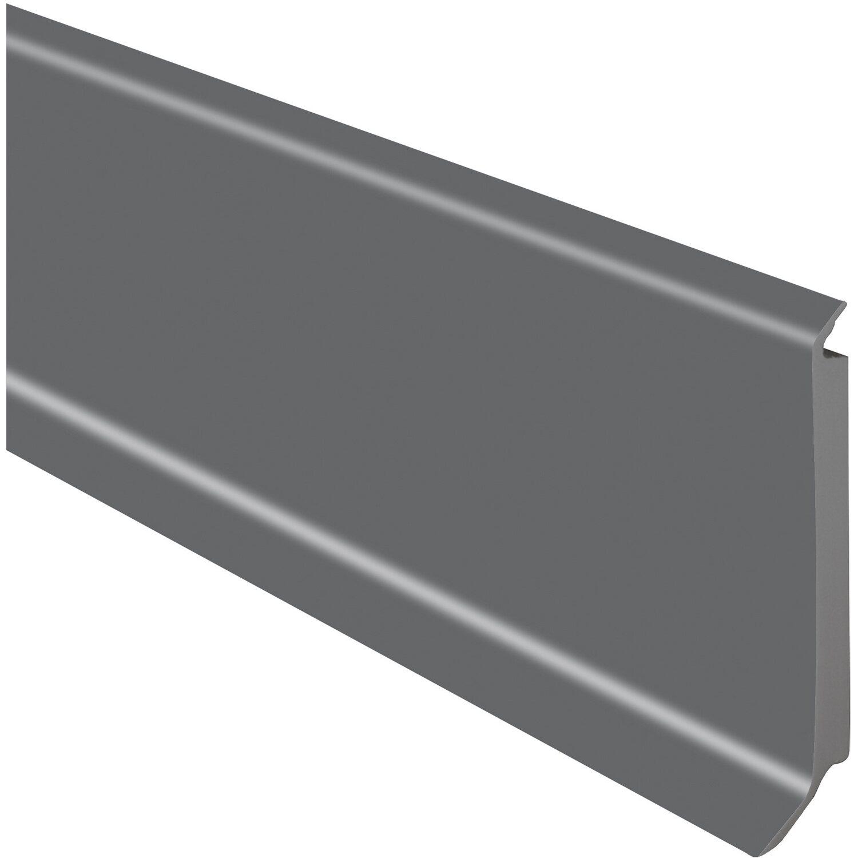 sockelleiste hartschaumkern grau 60 mm x 14 4 mm x 2500 mm kaufen bei obi. Black Bedroom Furniture Sets. Home Design Ideas