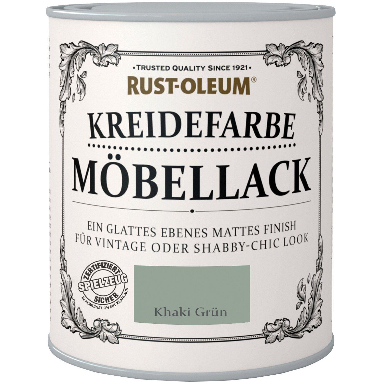 Rust Oleum  Möbellack Kreidefarbe Khaki Grün Matt 750 ml