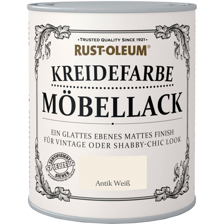 Rust Oleum  Möbellack Kreidefarbe Antikweiss Matt 750 ml