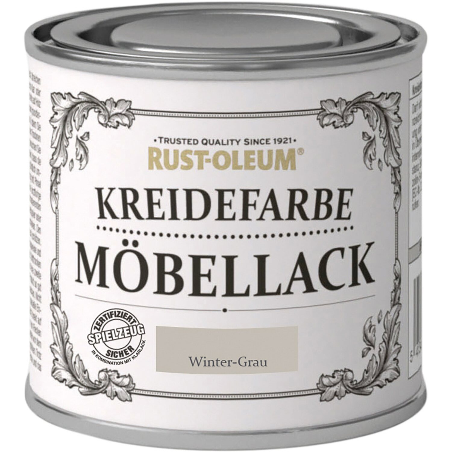 rust oleum m bellack kreidefarbe wintergrau matt 125 ml. Black Bedroom Furniture Sets. Home Design Ideas