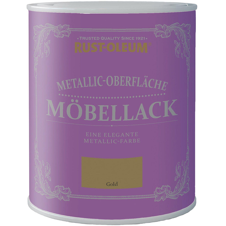 Rust Oleum  Möbellack Metallisch Gold Matt 750 ml