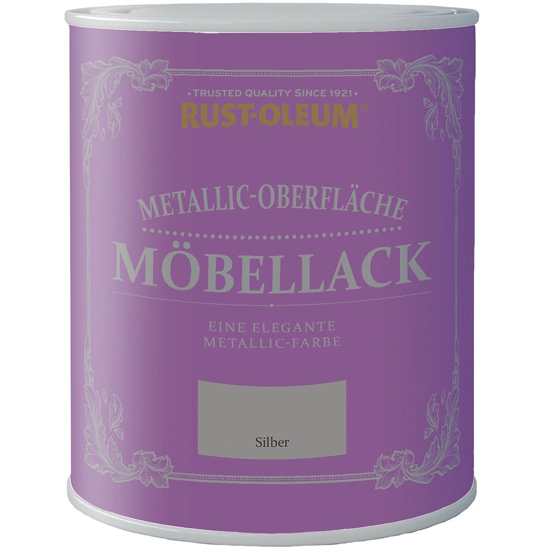 Rust Oleum  Möbellack Metallisch Silber Matt 750 ml