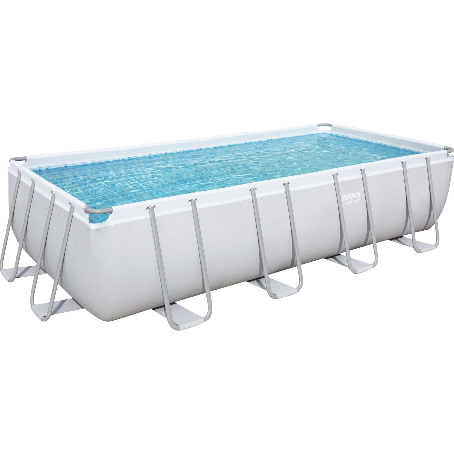 Bestway stahlrahmen pool set 549 cm x 274 cm x 122 cm for Pool aufblasbar eckig