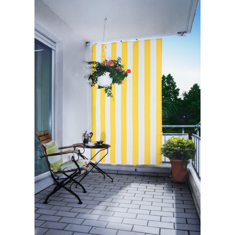 floracord senkrechtsonnensegel gelb wei 230 cm x 140 cm kaufen bei obi. Black Bedroom Furniture Sets. Home Design Ideas