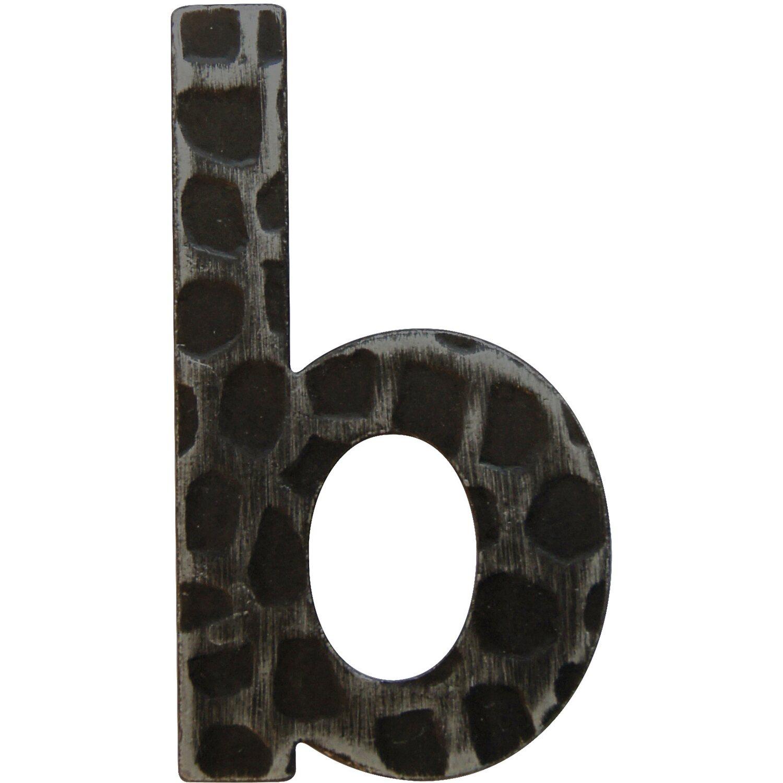 Hausnummer b Schmiedeeisen