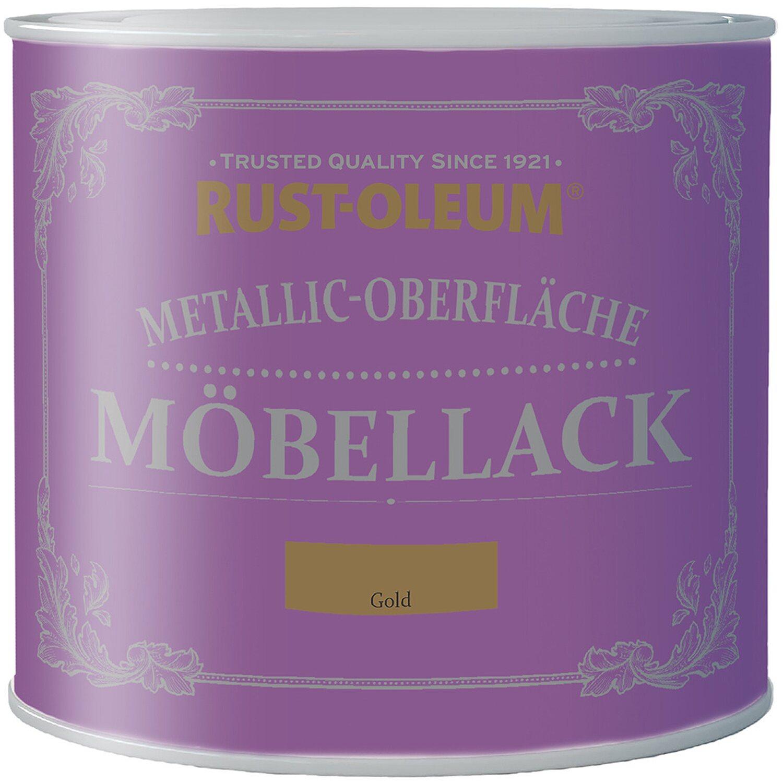 Rust Oleum  Möbellack Metallisch Gold Matt 125 ml