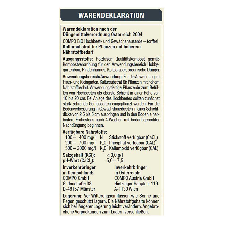 Compo Bio Pflanzen Blumen Und Hochbeet Erde Torffrei 40 L Kaufen