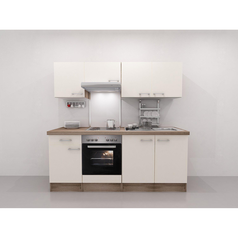 Flex Well Exclusiv Küchenzeile Eico 210 Cm Magnolienweiß Tennessee Eiche