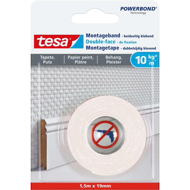 Tesa Montageband für Tapeten und Putz 1,5 m