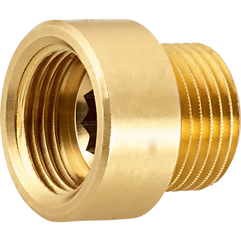 OBI Hahnverlängerung 14,9 mm (Rp 3/8) x 16,7 mm (R 3/8) Messing 10 mm